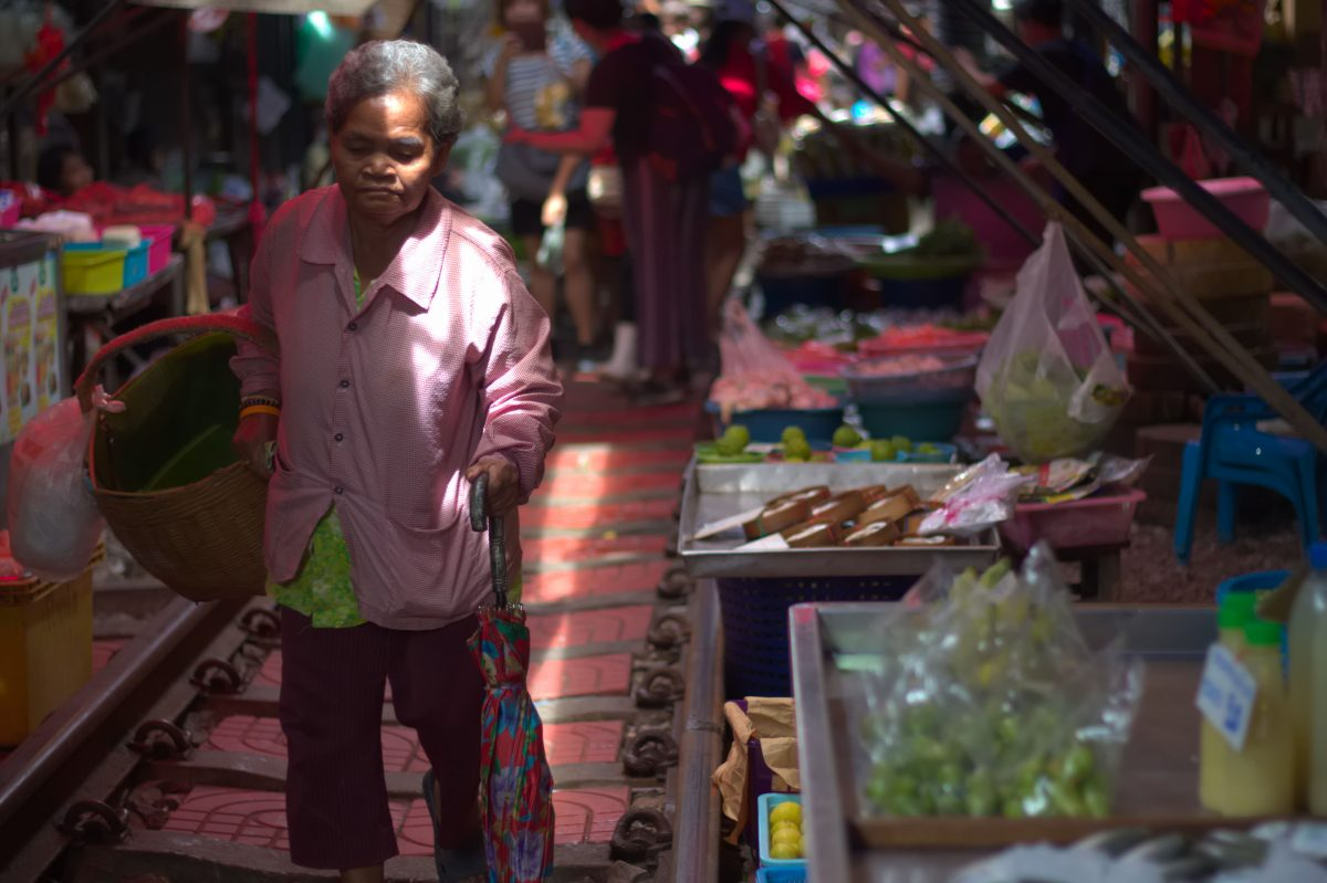 Walking Through the Market